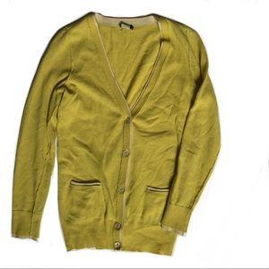 J. Crew cashmere-wool blend long v-neck cardigan
